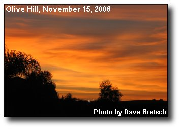 Olive Hill Sunset