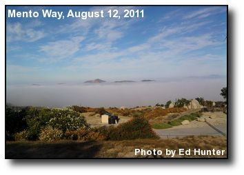 Fog over Hemet