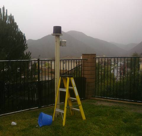Murrieta temperature, humidity and rain gauge