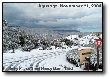 Aguanga Snow