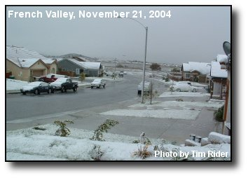 French Valley Snow