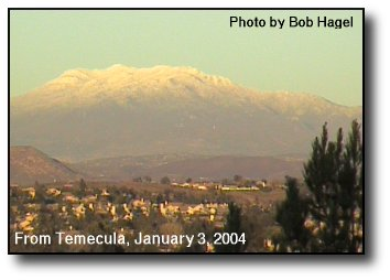 Snow on Mt. San Jacinto